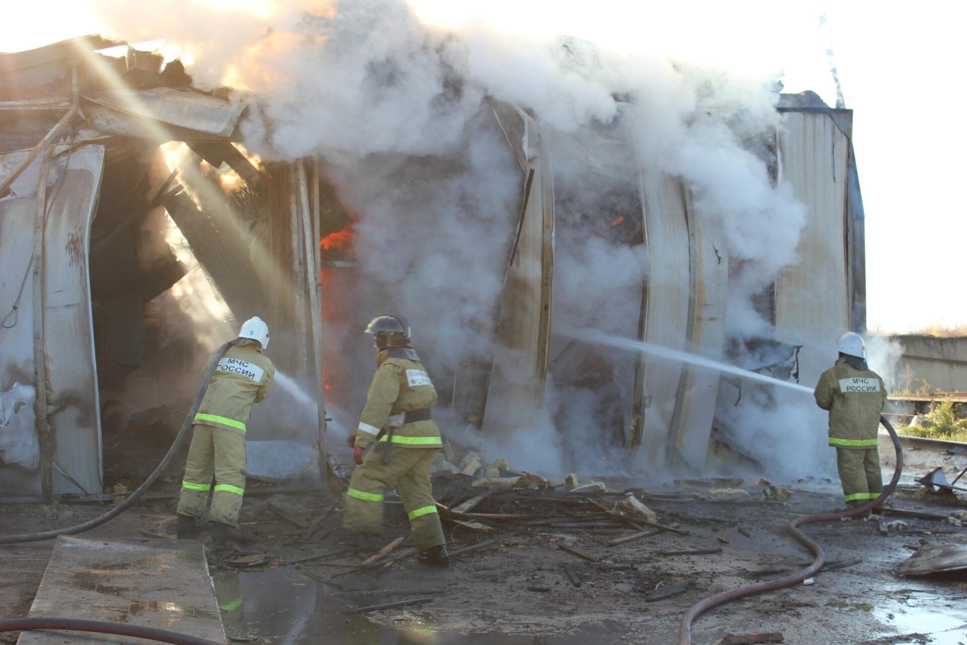 В Марий Эл в результате пожара повреждена зерносушилка