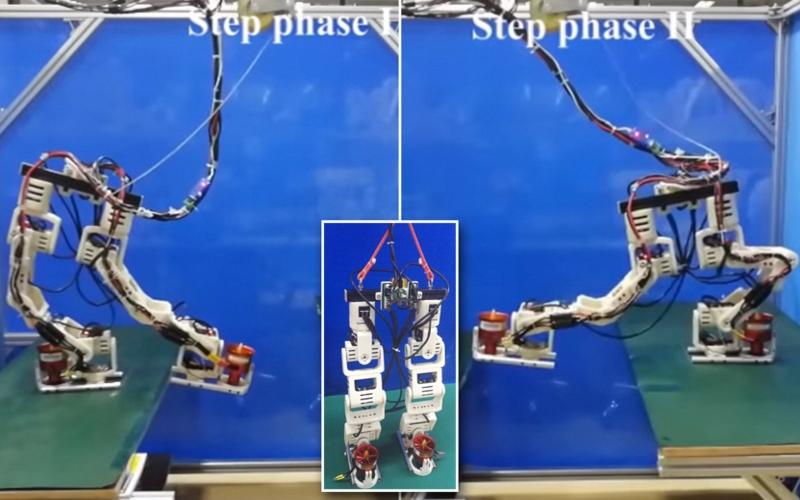 Двуногого робота научили летать в Китае