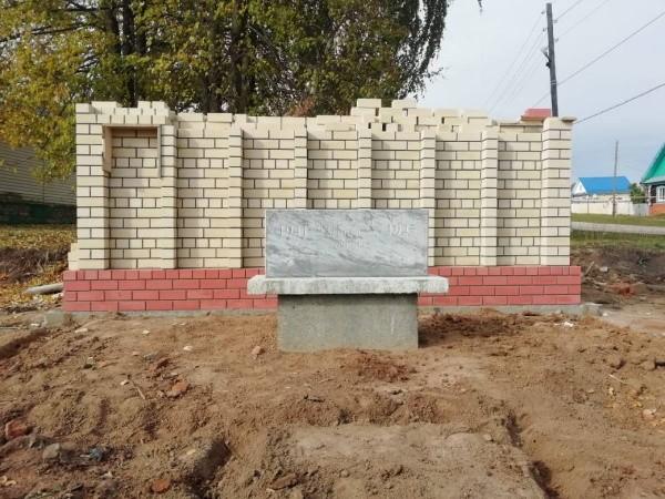 В Марий Эл в честь защитников Родины строят памятную стену
