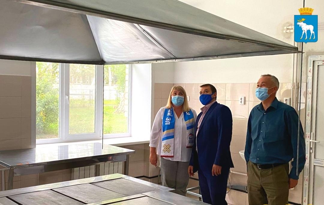 В школе Йошкар-Олы отремонтировали пищеблок