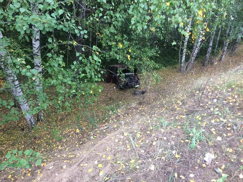 """В Марий Эл 66-летний водитель """"Лады Гранты"""" опрокинулся в кювет и попал в больницу"""