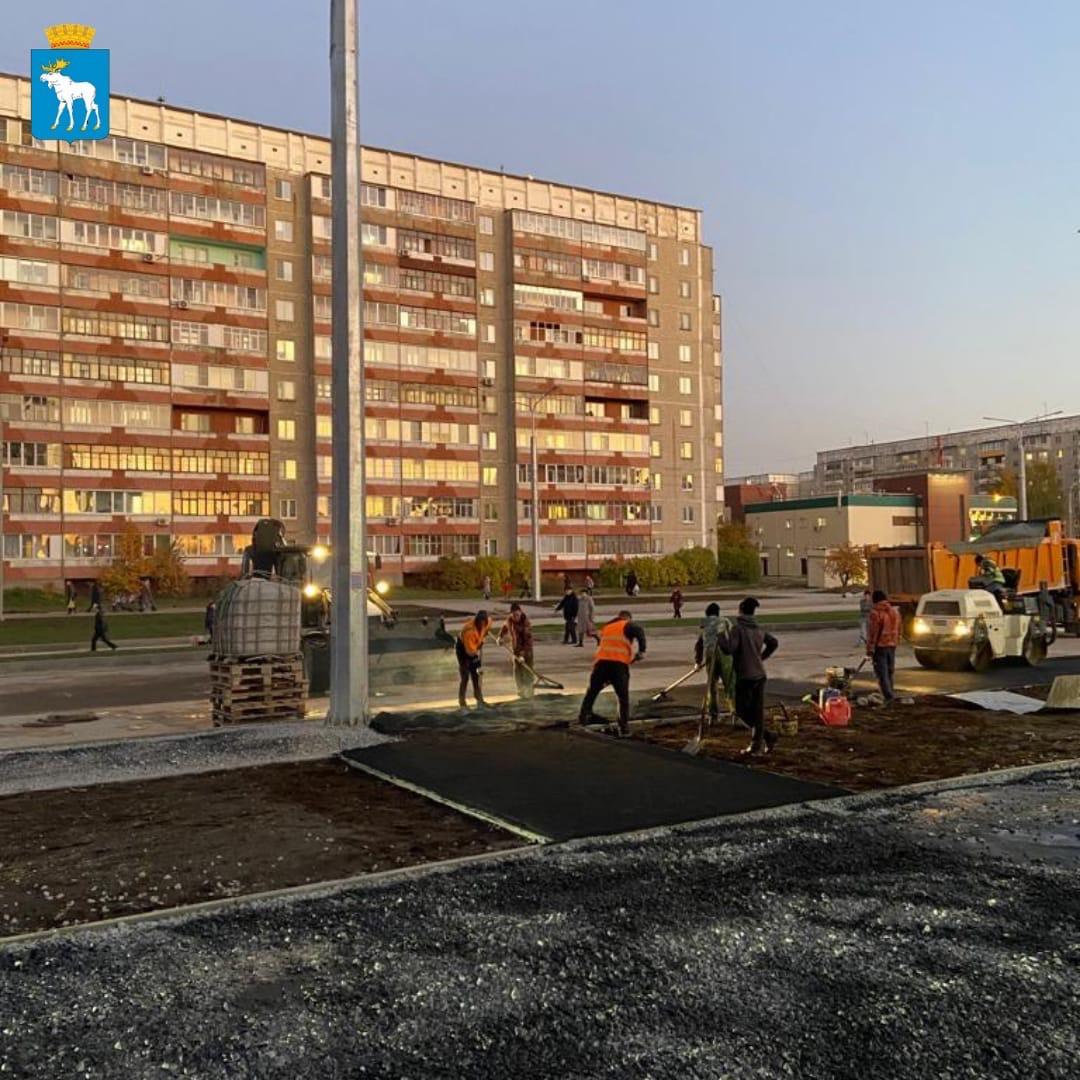 В Йошкар-Оле завершается строительство дороги на улице Петрова