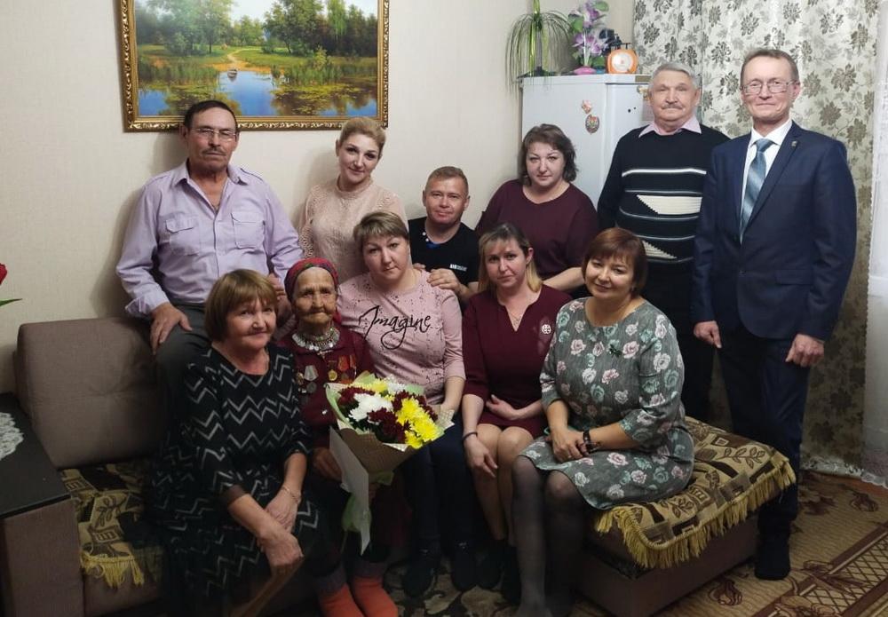 Одна из самых возрастных жительниц Советского района отметила юбилей