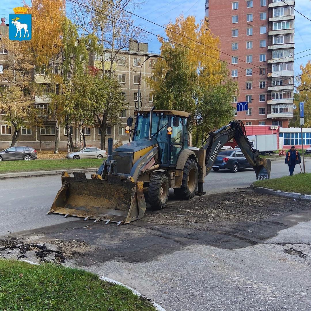 Ремонт дороги на улице Герцена проводится в Йошкар-Оле