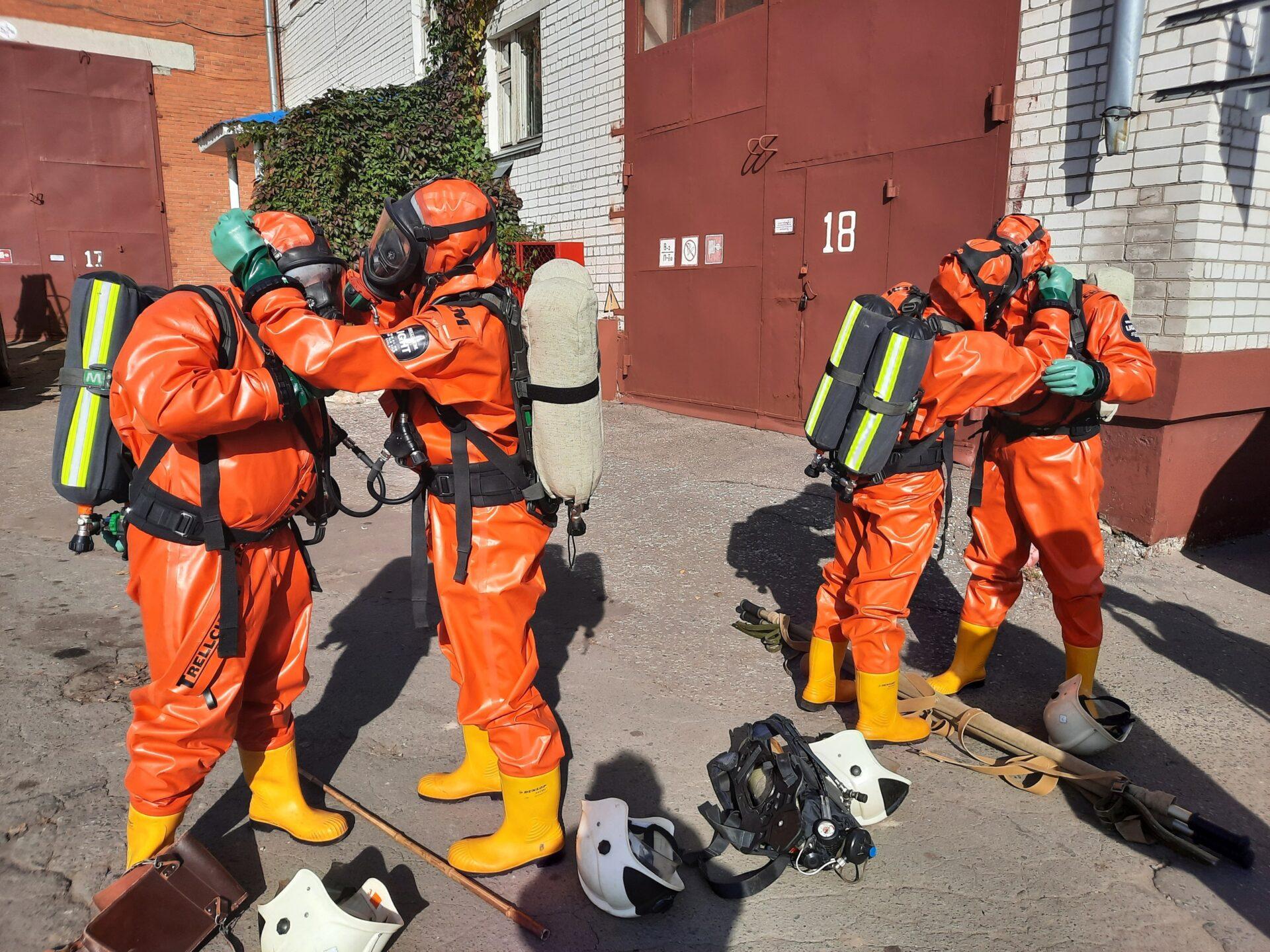 В Йошкар-Оле экстренные службы ликвидировали условную аварию на ТЭЦ-1