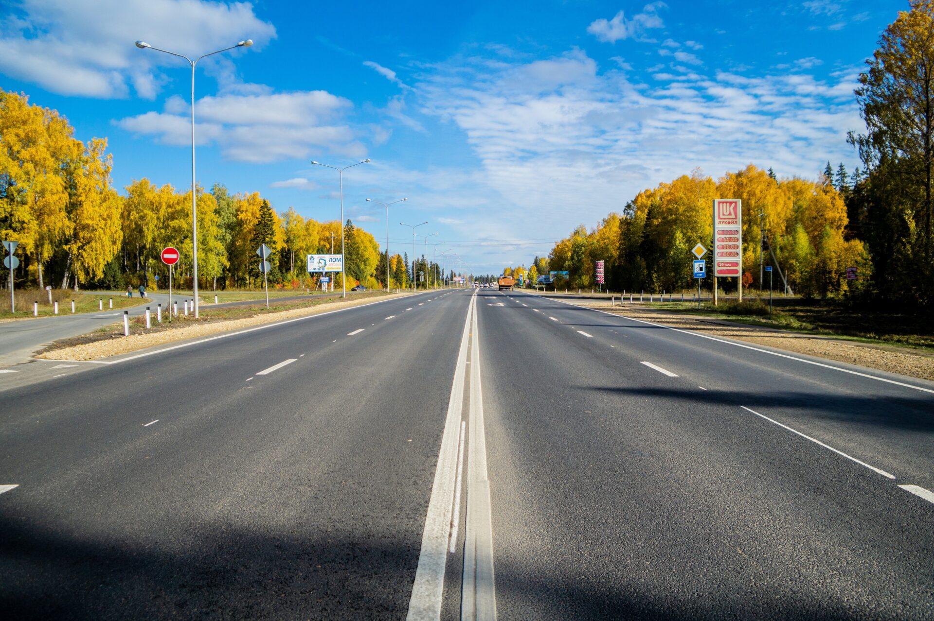 Завершён ремонт дороги Йошкар-Ола - Уржум