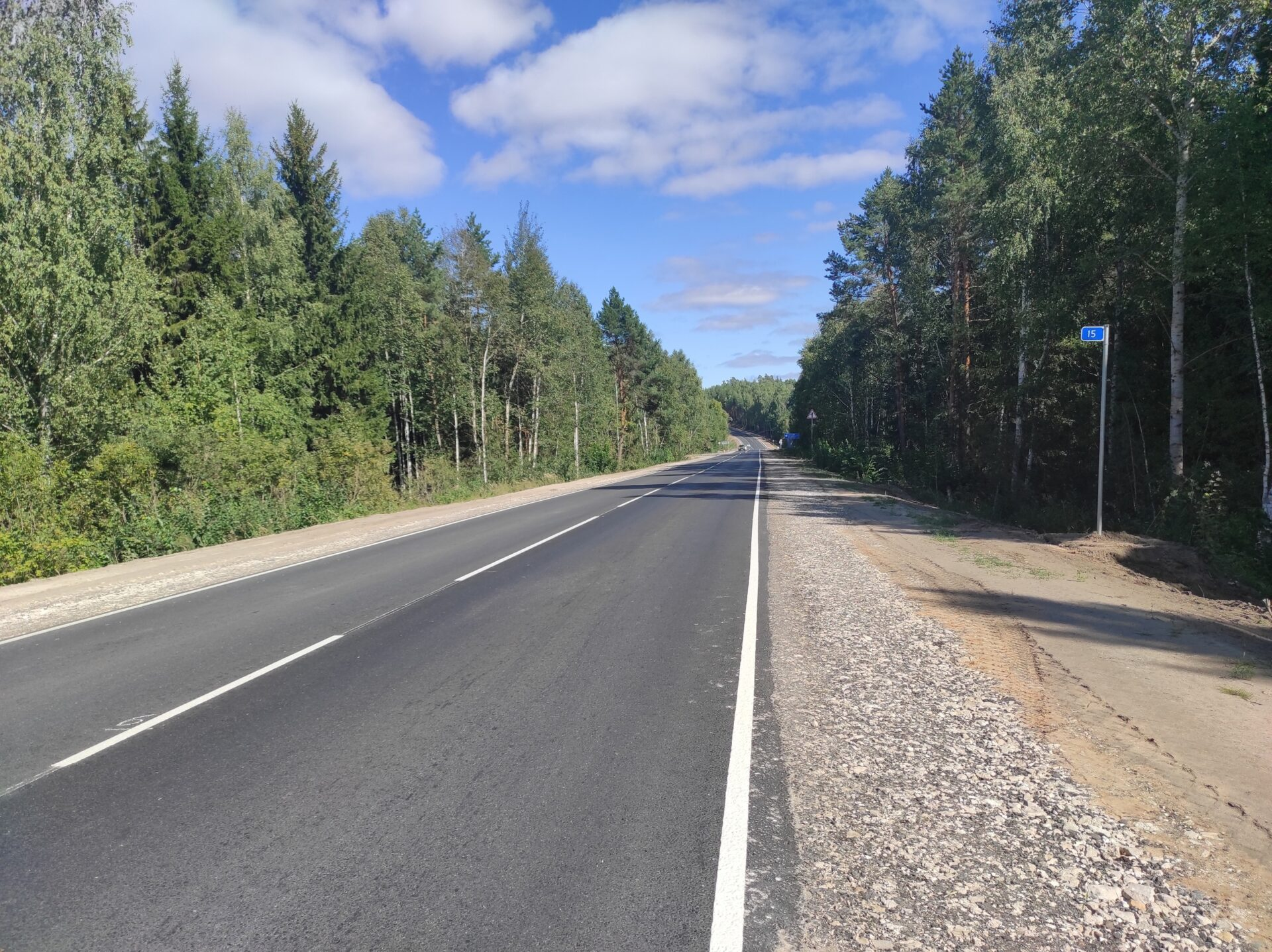 В Марий Эл отремонтирована дорога «Звенигово-Шелангер-Морки»