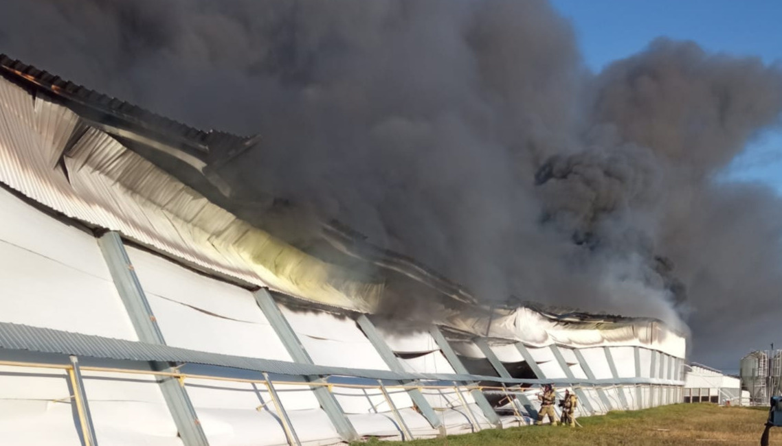 На птицефабрике случился пожар в Марий Эл